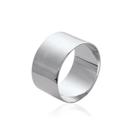 Bague alliance argent massif plate tube