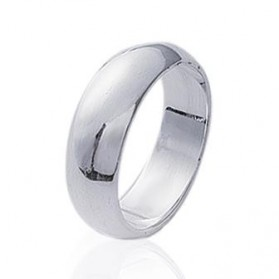 Alliance bague argent massif simple bombée