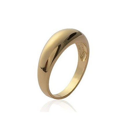 Alliance homme femme bague plaqué or simple