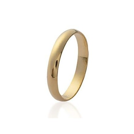 Alliance fine plaqué or bague simple