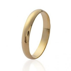 Alliance plaqué or homme femme bague simple