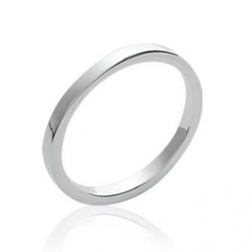 Bague simple modulable argent